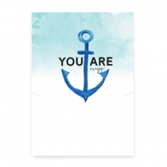 Espositori bigiotteria in cartoncino 'you are my anchor' bianco - blu