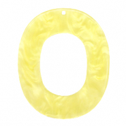 Pendenti in resina 48x40 mm ovale giallo sole