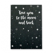 Espositori bigiotteria in cartoncino 'love you to the moon and back' nero - bianco
